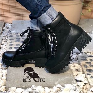 Vegan Suede & Leather Combo Combat Military Boots